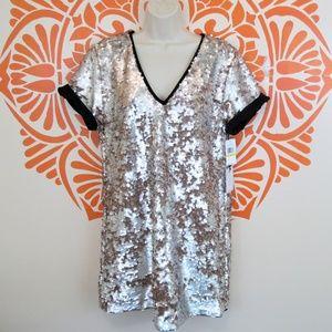 1. State Cool Sequin T-Shirt Mini Dress M
